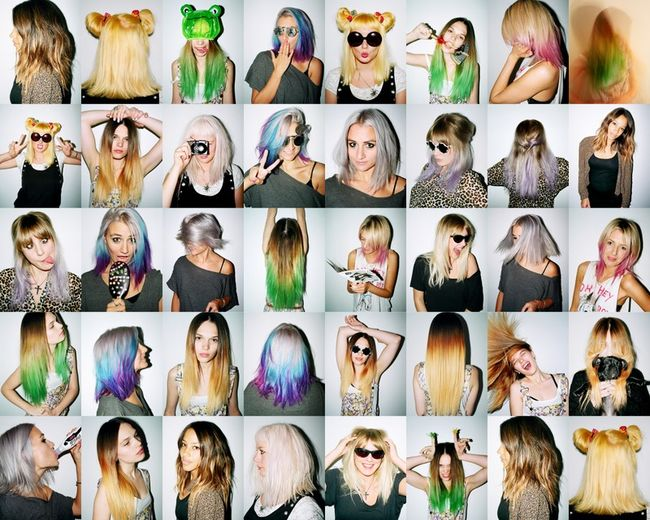 dipped dyed hair. her amazing dip-dyed hair
