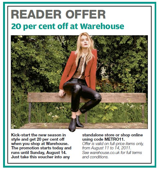 Warehouse Reader Offer